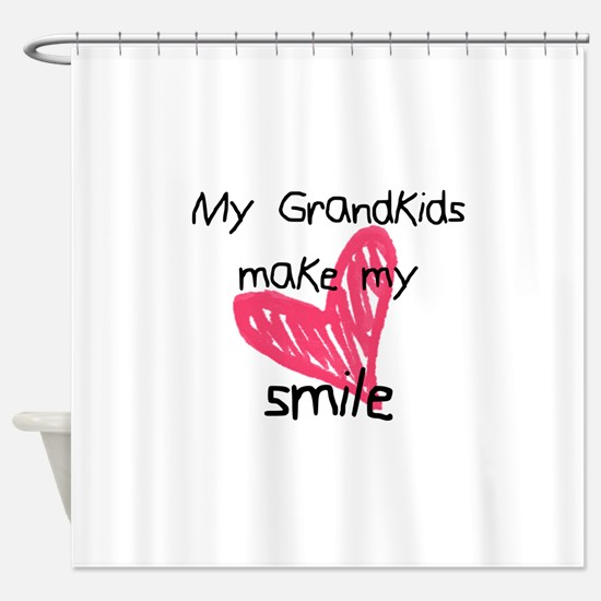 Grandkids make my heart smile Shower Curtain