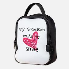 Grandkids make my heart smile Neoprene Lunch Bag