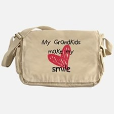 Grandkids make my heart smile Messenger Bag