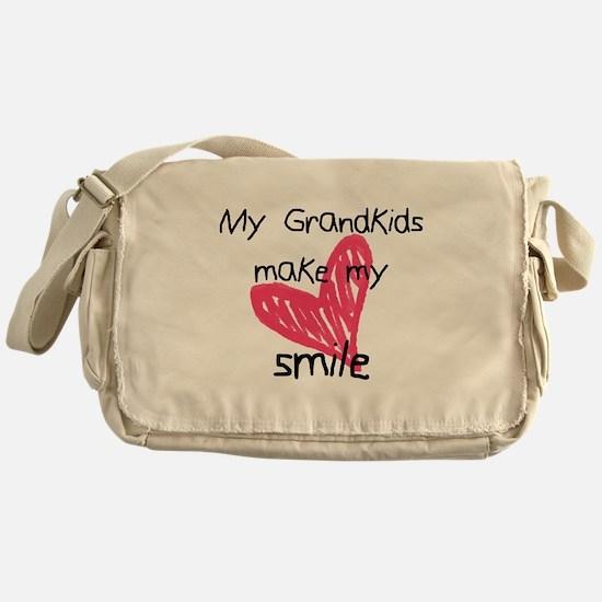 Grandkids make my heart smile Messenger Bag