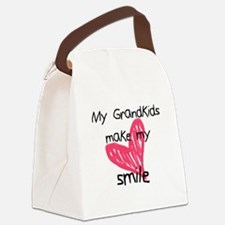Grandkids make my heart smile Canvas Lunch Bag