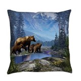 Bear Burlap Pillows