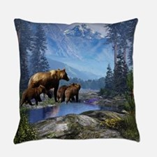 Mountain Grizzly Bears Everyday Pillow