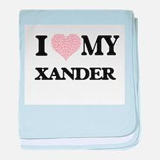 I Love my Xander (Heart Made from Lov baby blanket