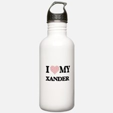 I Love my Xander (Hear Water Bottle