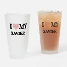 I Love my Xavier (Heart Made from L Drinking Glass
