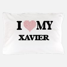 I Love my Xavier (Heart Made from Love Pillow Case