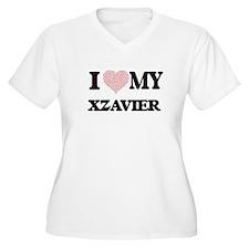 I Love my Xzavier (Heart Made fr Plus Size T-Shirt