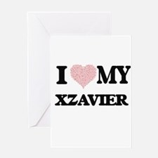 I Love my Xzavier (Heart Made from Greeting Cards