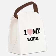 I Love my Yahir (Heart Made from Canvas Lunch Bag