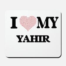 I Love my Yahir (Heart Made from Love my Mousepad
