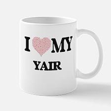 I Love my Yair (Heart Made from Love my words Mugs