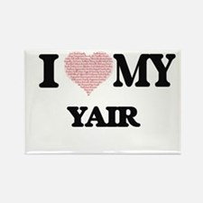 I Love my Yair (Heart Made from Love my wo Magnets