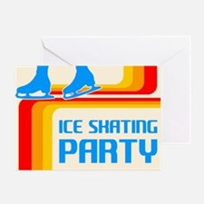 Retro Ice Skating Party Greeting Cards