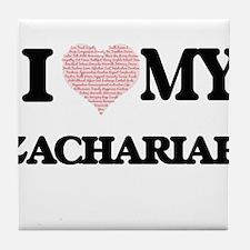 I Love my Zachariah (Heart Made from Tile Coaster