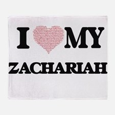I Love my Zachariah (Heart Made from Throw Blanket