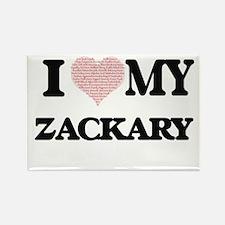 I Love my Zackary (Heart Made from Love my Magnets