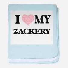 I Love my Zackery (Heart Made from Lo baby blanket