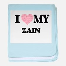 I Love my Zain (Heart Made from Love baby blanket