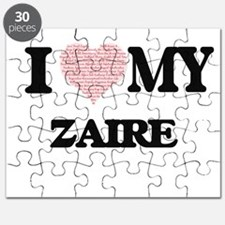 I Love my Zaire (Heart Made from Love my wo Puzzle