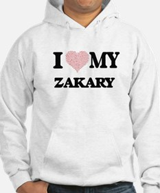 I Love my Zakary (Heart Made fro Hoodie