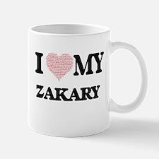 I Love my Zakary (Heart Made from Love my wor Mugs