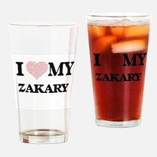 I Love my Zakary (Heart Made from L Drinking Glass