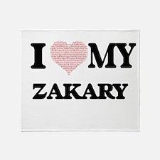 I Love my Zakary (Heart Made from Lo Throw Blanket
