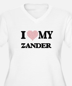 I Love my Zander (Heart Made fro Plus Size T-Shirt