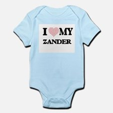 I Love my Zander (Heart Made from Love m Body Suit