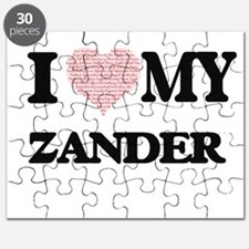 I Love my Zander (Heart Made from Love my w Puzzle