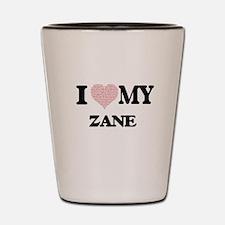 I Love my Zane (Heart Made from Love my Shot Glass