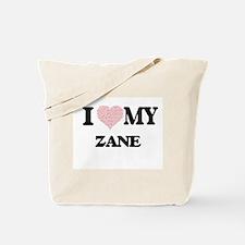 I Love my Zane (Heart Made from Love my w Tote Bag