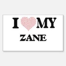 I Love my Zane (Heart Made from Love my wo Decal