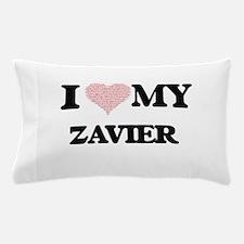 I Love my Zavier (Heart Made from Love Pillow Case