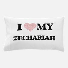 I Love my Zechariah (Heart Made from L Pillow Case