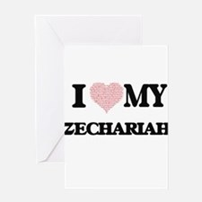 I Love my Zechariah (Heart Made fro Greeting Cards