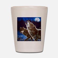 Howling Wolves Shot Glass