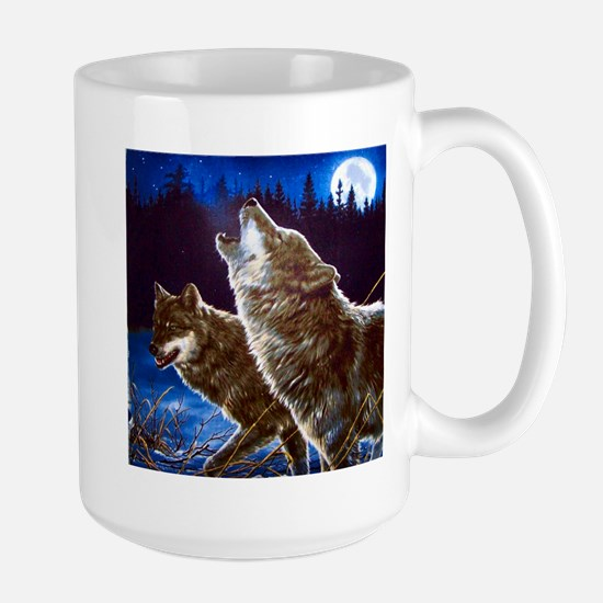 Howling Wolves Large Mug