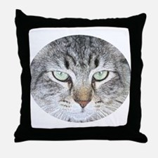 Feline Faces Throw Pillow