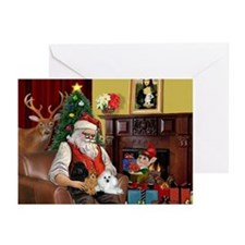Santa's Poodle Trio Greeting Cards (Pk of 20)