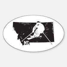 Ski Montana Sticker (Oval)