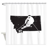 Big sky montana Shower Curtains
