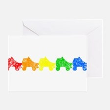 Rainbow Skates Greeting Cards