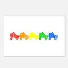 Rainbow Skates Postcards (package Of 8)