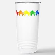 rainbow skates Travel Mug