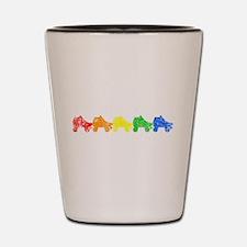 rainbow skates Shot Glass