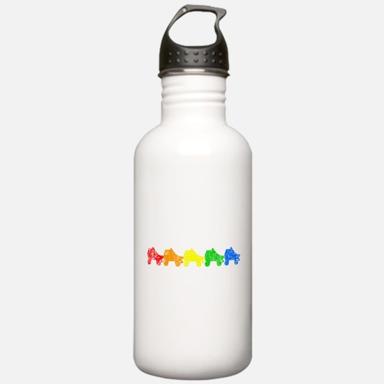 rainbow skates Water Bottle