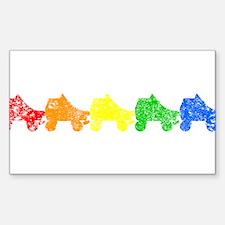 rainbow skates Decal