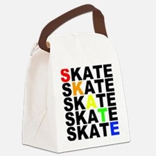 rainbow skate stacks Canvas Lunch Bag